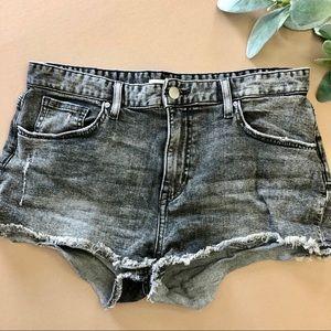 H&M Mineral Washed Cutoff Denim Shorts